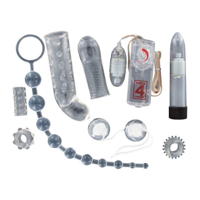 Kit del piacere sex toy per la coppia crystal diamond