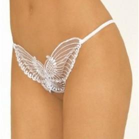 Perizoma bianco aperto a farfalla