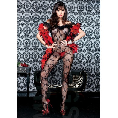 Tutina sexy intera bodystocking pizzo music legs