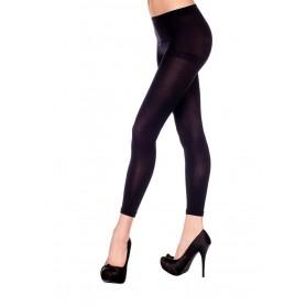 Leggings semplici neri Pantacollant opaque footless