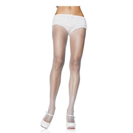 Collant calze a rete per donna bianco sexy tuttonudo