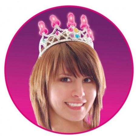 Corona a forma di pene bachelorette party favors light up pecker party crown