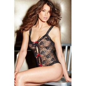 Body di pizzo floreale teddy cupples Black