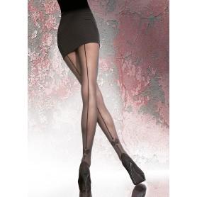 Collant Calze Fiore Vellana 40 den con riga nera posteriore e fiocco