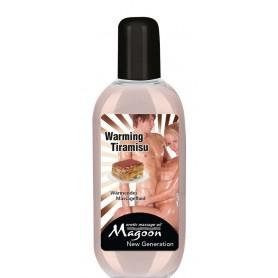 Olio per massaggio sensuale con effetto riscaldante TIRAMISU' warming massage