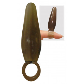 Fallo Anale Finger plug bulk smoke black dildo