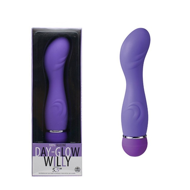 Vibratore design day-glow willy purple