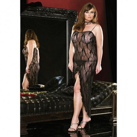ABITO BUTTERFLY LACE BLACK
