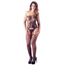 tuta sexy con calze Strapshemd und String