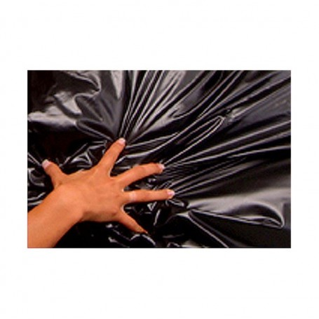 Telo copri letto laccato nero in latex 180 x 220