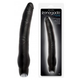 Vibratore dildo vaginale anale maxi long vibe Black