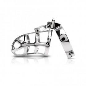 Cintura di castità per uomo gabbia in acciaio per pene con lucchetto