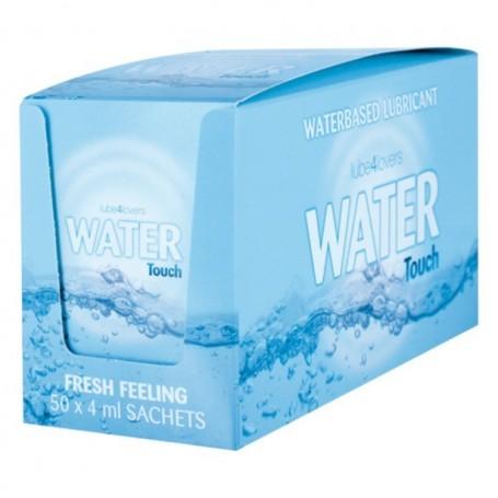 Lubrificante all'acqua water touch box 50 per sachet