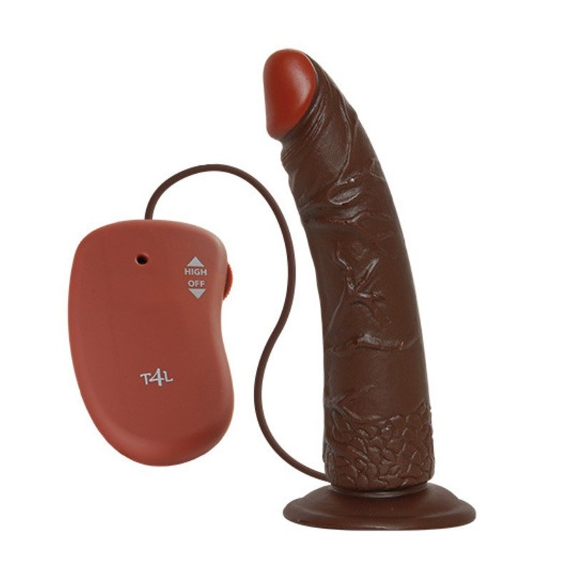 Vibratore realistico real rapture Brown 7'' Dildo vibrante