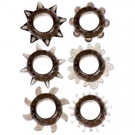 Kit anello fallico 6 pz sex toys per uomo anelli per pene