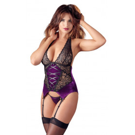 Lingerie donna intimo corpetto guepiere body sexy con c string