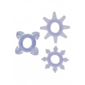 Kit 3pz anello fallico per pene contro eiaculazione precoce tickle c rings