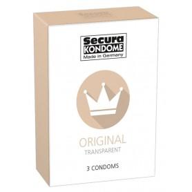 Profilattici Preservativi trasparenti secura condoms 3 pz