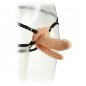 "Vibratore doppio strap on Fetish Fantasy Series 6"" Double Penetrator Vibrating Hollow Strap-On"