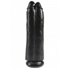 Fallo dildo vaginale realistico doppio king cock 11 two cocks mulatto