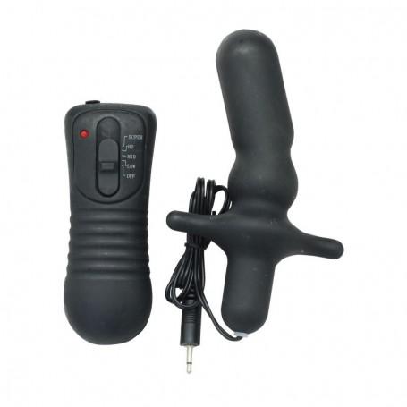 Vibratore anale plug dildo vibrante nero stimolatore vibromassaggiatore sex toys
