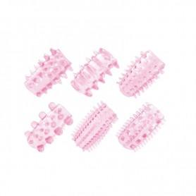 Kit anello fallico sex toys contro eiaculazione precoce guaina per pene 6pz
