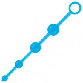 catenella di palline anali fallo 4 fluo beads acid blu
