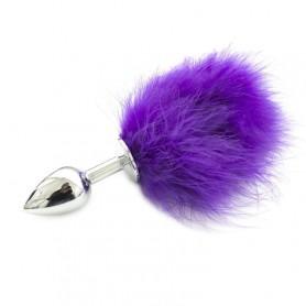 Plug anale pon tail anal plug purple