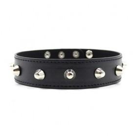 Collare spikes collar black bondage nero fetish costrittivo bdsm dress harness