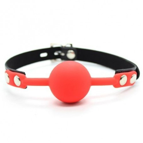 Ball gag ball block rosso morso in silicone red bondage fetish