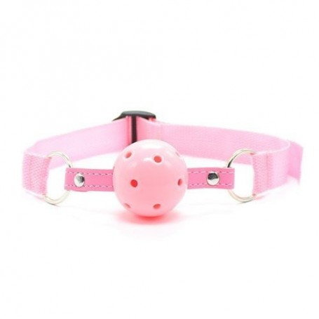 Easy breathable ball gag rosa costrittivo fetish bondage pink