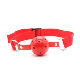 Easy breathable ball gag rosso costrittivo fetish bondage red