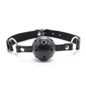 Breathable ball gag nero traspirante morso black bondage fetish costrittivo