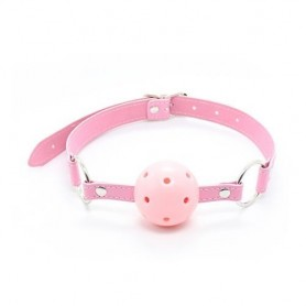 Breathable ball gag rosa traspirante morso pink bondage fetish costrittivo