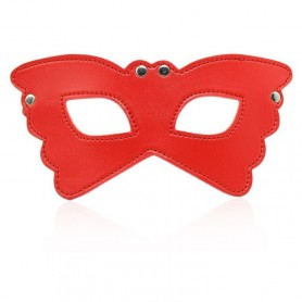 Butterfly mask red maschera indossabile bondage fetish sexy per uomo e donna