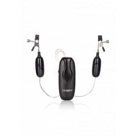 Stimolatore per capezzoli con pinze bondage fettish vibrante nipple clamps kit nero