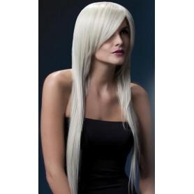 Parrucca donna Bionda lunga Professionale Lisci lunghi biondo 71 cm