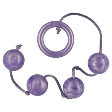 Pleasure Pearls 4 Violet palline anali vaginali