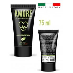 Lubrificante sessuale vaginale anale aromatizzato alla mela verde gel intimo 75 ml