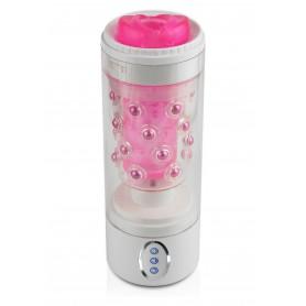 masturbatore maschile automatico rotante per pene uomo rosa vibrante pink