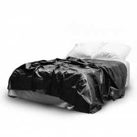 Telo in vinile nero copriletto matrimoniale per copri lettino per massaggi