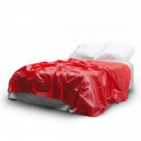 Telo in vinile rosso copri lettino per massaggi copriletto matrimoniale red