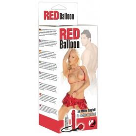 pene finto vibrante dildo gonfiabile rosso vaginale anale con pompa sexy toy red