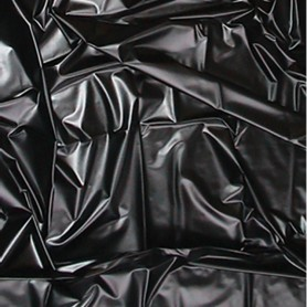 telo copriletto in lattex wetgames sexmax black 180 x 260