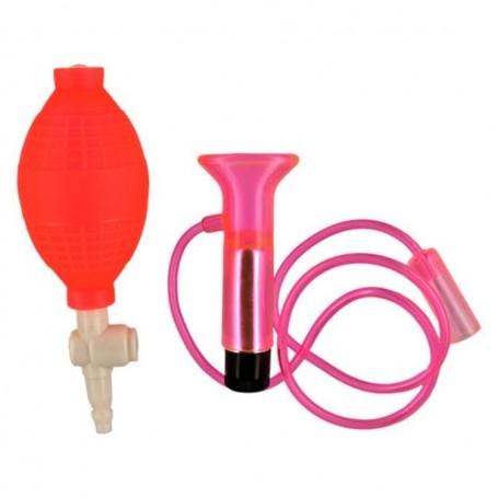 Stimolatore clitorideo vaginale vibrante pink suction cup
