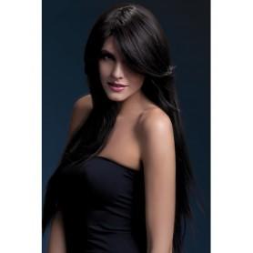 parrucca professionale castano scuro sensuale per donna sexy lunga 71 cm