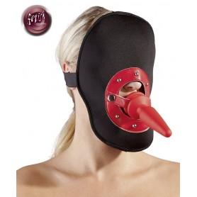 Maschera bondage con Fallo plug anale incorporato