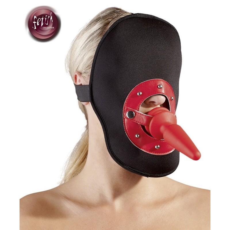 Maschera sadomaso con Fallo anale incorporato