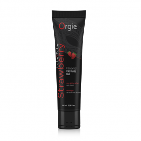 Lubrificante a base acqua fragola gel intimo orgie lube tube vaginale anale 100 ml