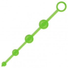 Fallo anale 4 fluo beads acid green